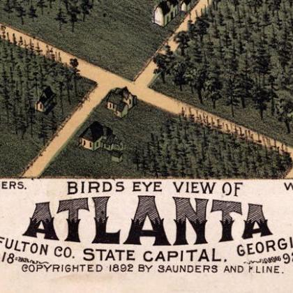 Altlanta Panoramic Birdseye View 18..