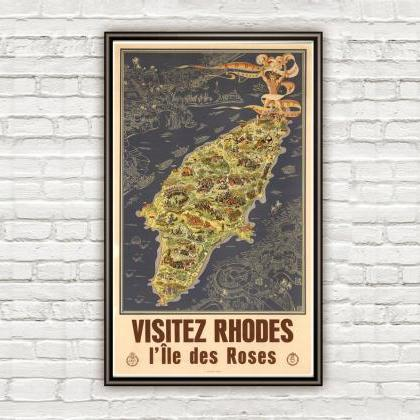Vintage Poster of Rhodes Island Gre..