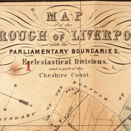 Old Map of Liverpool 1854 England