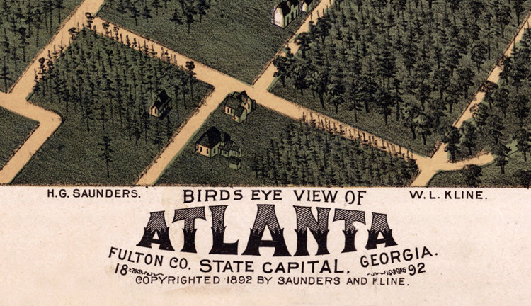 Altlanta Panoramic Birdseye View 1892
