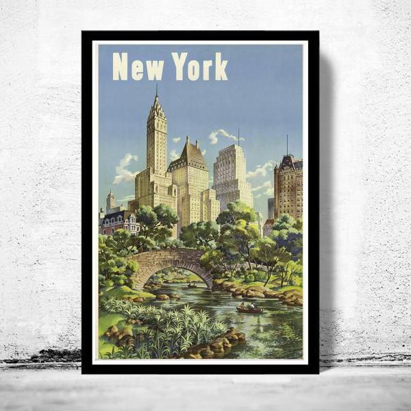 Vintage Poster of New York Tourism poster travel